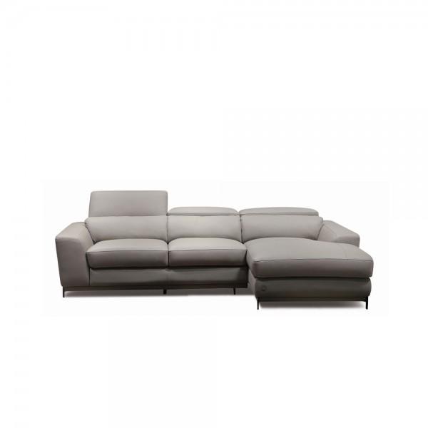 W| 1540 ang - Модерен кожен диван с лежанка