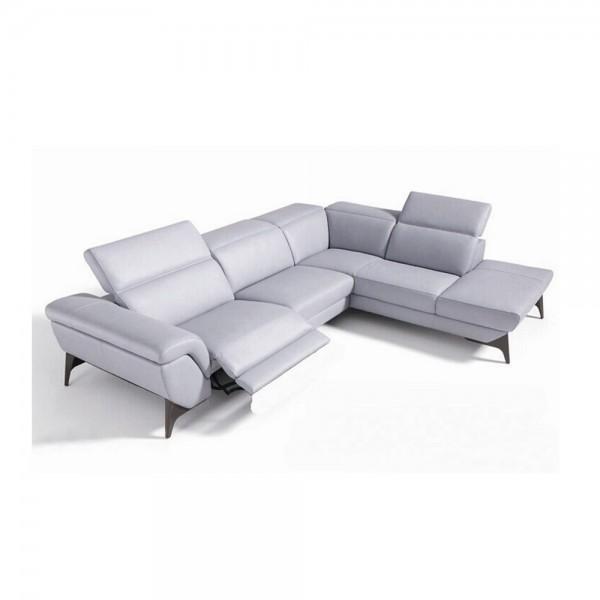 1550 - Модерен кожен диван реклайнер