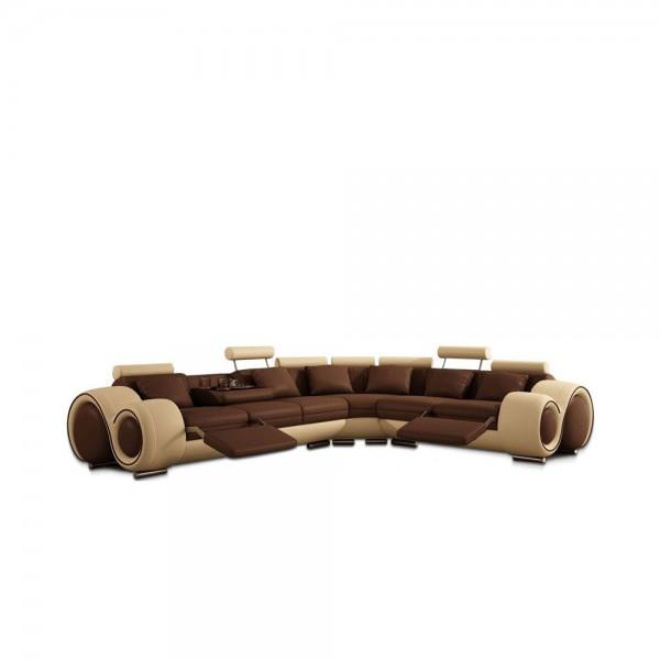 T.4087 - Модерен кожен диван