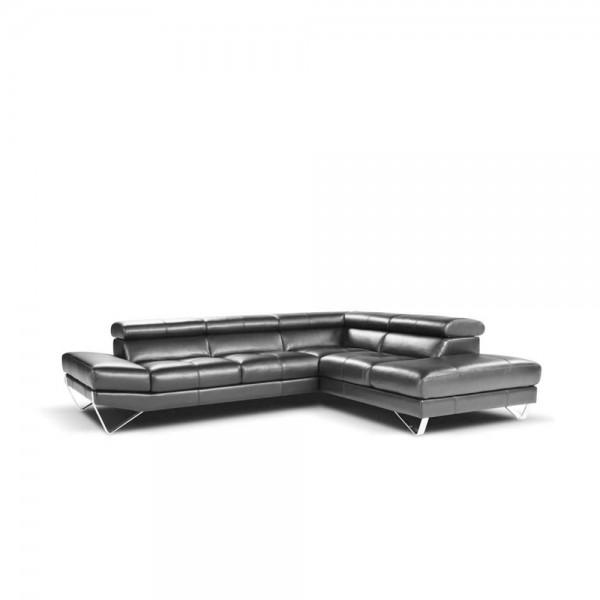 900 - Модерен ъглов диван от естествена кожа