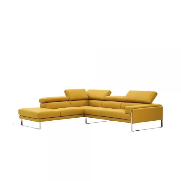908 ang - Модерен ъглов диван от естествена кожа
