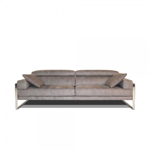 K.908 - 3-ка диван с модерен италиански дизайн с тапицерия от естествена кожа