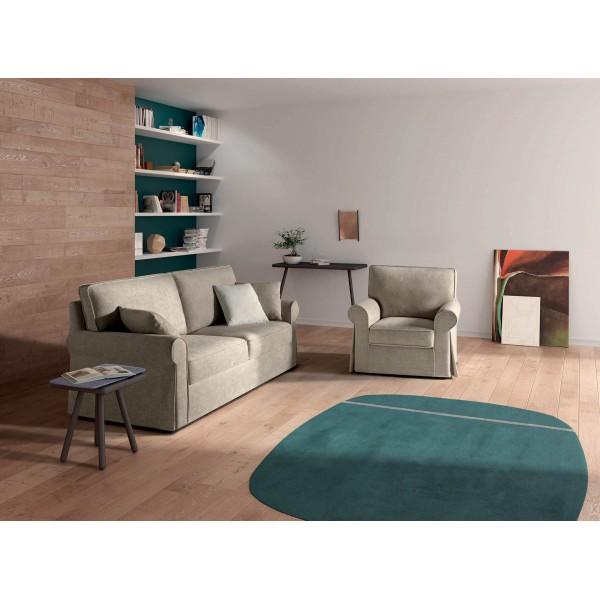 Съвременен разтегателен диван във винтидж стил, LOVE