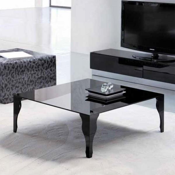 TVL033 - Квадратна стъклена маса за кафе, EPOCA от 'Unico Italia'