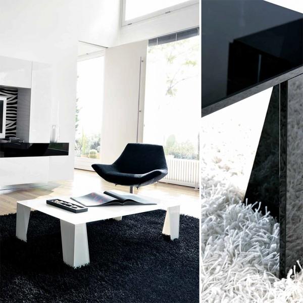 TVL034 - Дизайнерска стъклена маса за кафе, DOUBLE от 'Unico Italia'