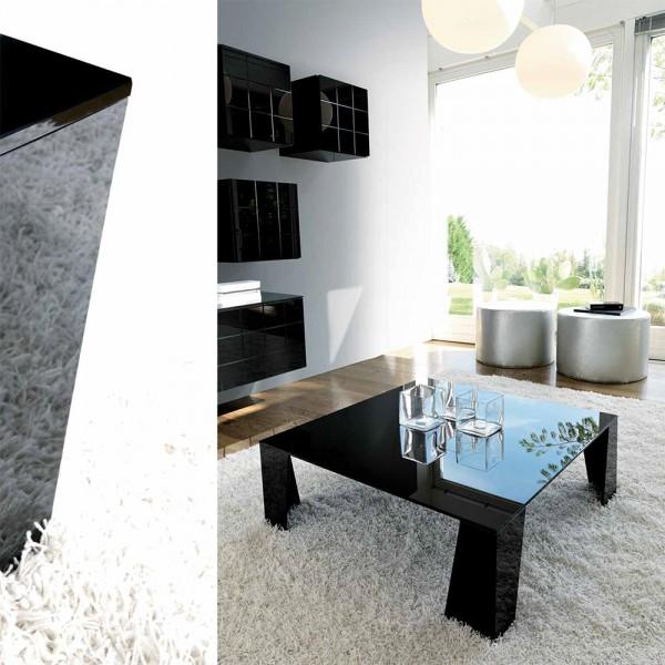 TVL035 - Стъклена маса за кафе с модерен дизайн, DOUBLE от 'Unico Italia'