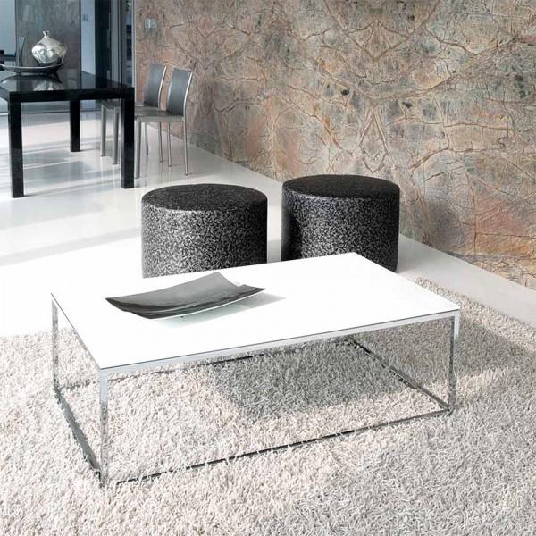 TVL036 - Маса за кафе с метална основа и стъклен плот, LINEAR от 'Unico Italia'