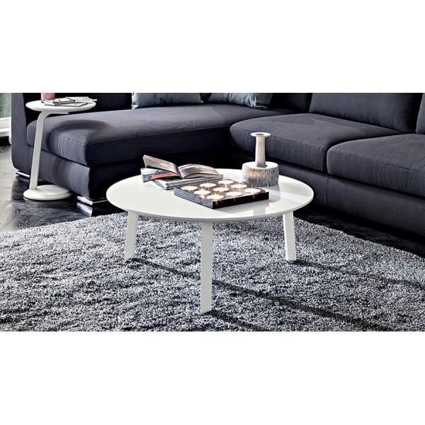 Бяла кръгла маса за кафе в модерен стил