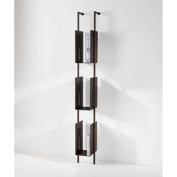 Библиотека със стоманена основа и рафтове от меланин LIBRA 72-163-16-3