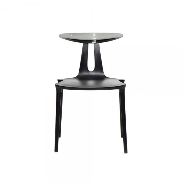 FLY - Дизайнерски трапезен стол - черен цвят