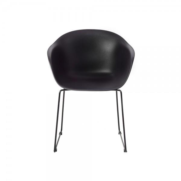 SMACK - Италиански стол за трапезария в модерен стил - черен цвят