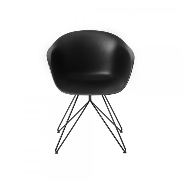 SMACK - Модерен стол за трапезария - черен цвят