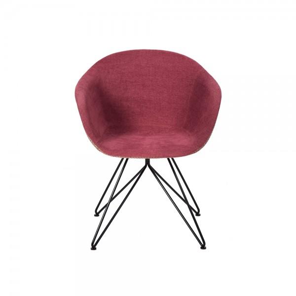 SMACK - Модерен текстилен стол за трапезария внос от Италия - цвят бордо