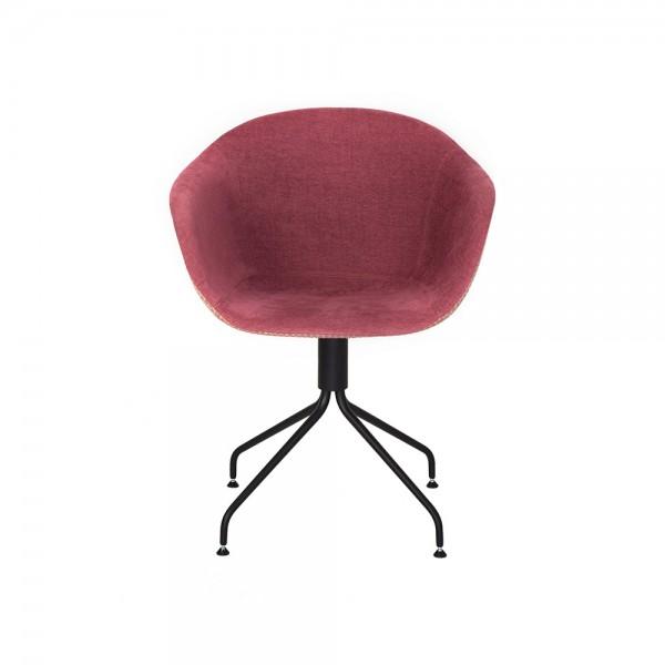 SMACK  - Италиански текстилен стол за трапезария - цвят бордо