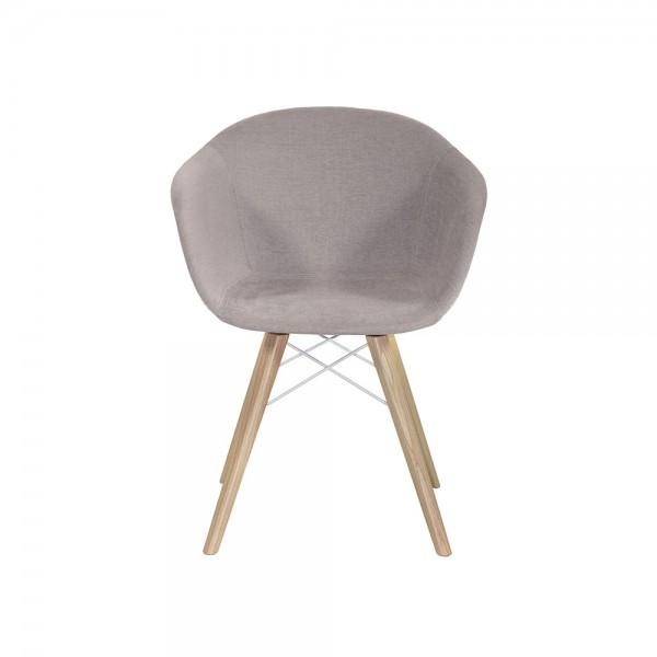 SMACK - Модерен трапезен стол със седала в тъмно сив текстил