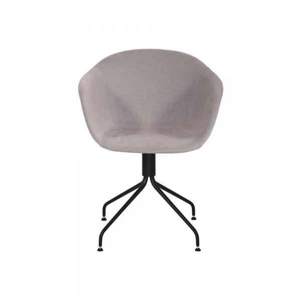 SMACK - Италиански текстилен стол за трапезария - цвят тъмно сив