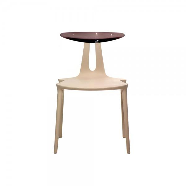 FLY - Дизайнерски трапезен стол - в бежово кафяв цвят