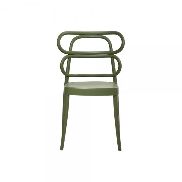 MIRA - Модерен италиански трапезен стол от полипропилен - зелен цвят