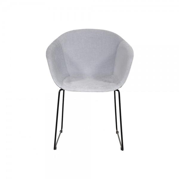 SMACK - Италиански стол за трапезария в модерен стил - светло сив цвят
