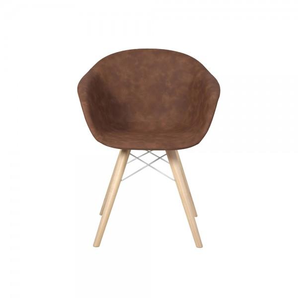 SMACK - Модерен трапезен стол внос от Италия с тапицерия от еко кожа