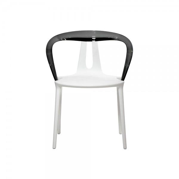 FLY - Дизайнерски стол с подлакътници - бял цвят