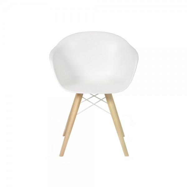 SMACK - Модерен италиански трапезен стол в бял цвят