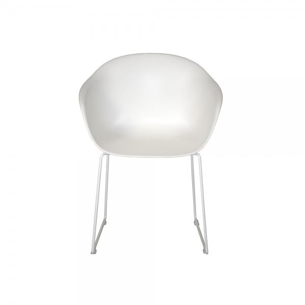 SMACK - Италиански стол за трапезария в модерен стил - бял цвят